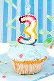 Boy's third  birthday Royalty Free Stock Photo