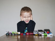 Boy's toys. Little child with his favorite toys Stock Image