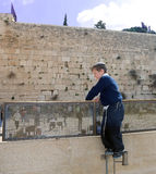 A Boy s View Of The Kotel Royalty Free Stock Photography