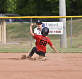 Boy's Youth Baseball Play at Third Stock Photos