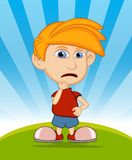 The boy is sad vector illustration Royalty Free Stock Image