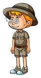 Boy in safari outfit with dizzy eyes Stock Photography