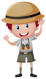 Boy in safari outfit Royalty Free Stock Photography