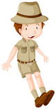 Boy in safari suit Stock Image