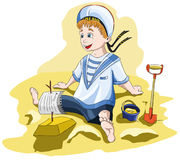 A boy in a sailor shape Royalty Free Stock Photos