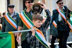 Boy saluting Royalty Free Stock Image