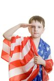 Boy saluting Royalty Free Stock Images