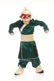 Boy in samurai costume Stock Images