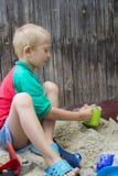 Boy on sand Royalty Free Stock Photos