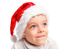 Boy santa Stock Photography