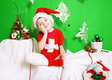 Boy Santa Claus Stock Photography