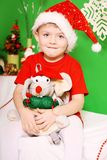 Boy Santa Claus Stock Images