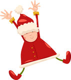 Boy santa claus christmas cartoon Royalty Free Stock Photos