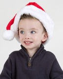 Boy in Santa hat Royalty Free Stock Photos