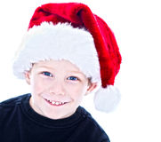 Boy in santa hat Royalty Free Stock Image