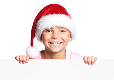 Boy in Santa hat Royalty Free Stock Photography