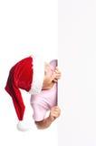 Boy in Santa hat Royalty Free Stock Photos