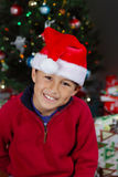 Boy with Santa Hat Royalty Free Stock Image