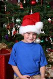Boy in a Santa Hat royalty free stock image