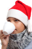 Boy with Santa's hat Royalty Free Stock Photography