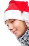 Boy with Santa's hat Royalty Free Stock Photos