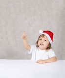 Boy in Santas hat Royalty Free Stock Image