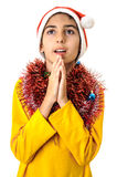 Boy saying pray Royalty Free Stock Photos