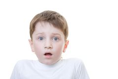 Boy scared Stock Photography