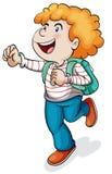 A boy with school bag Royalty Free Stock Photos