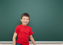 Boy and the school board Stock Photos