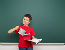 Boy and the school board Royalty Free Stock Photos