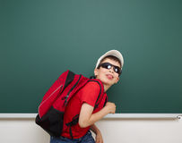 Boy and the school board Royalty Free Stock Photography