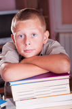 Boy with school books Stock Photography