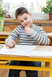 Boy in school Stock Photography