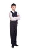 Boy in school uniform Royalty Free Stock Images