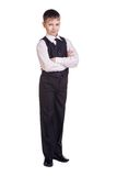 Boy in school uniform Stock Image
