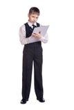 Boy in school uniform Stock Photo