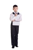 Boy in school uniform Royalty Free Stock Image