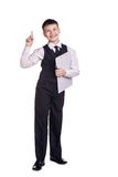 Boy in school uniform Royalty Free Stock Images