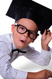 Boy - a schoolboy. The surprise on his face Stock Images