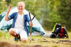 Boy scout fotografie stock libere da diritti