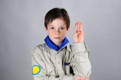 Boy-scout Fotografie Stock Libere da Diritti