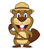 Boy scout beaver. Clipart picture of a boy scout beaver cartoon character Royalty Free Stock Photography