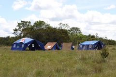 The boy scout camp near the town of San Jose Del Guaviare Royalty Free Stock Photography