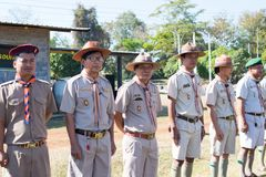 Boy scout camp in sisaket,THAILAND 2017.  Royalty Free Stock Images