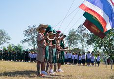Boy scout camp in sisaket,THAILAND 2017.  Stock Photography