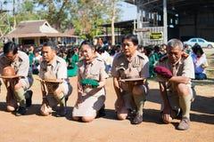 Boy scout camp in sisaket,THAILAND 2017.  Stock Image