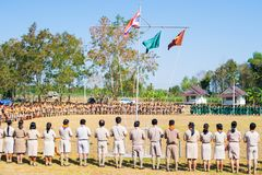 Boy scout camp in sisaket,THAILAND 2017.  Stock Photos