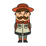 Boy scout character icon Royalty Free Stock Image