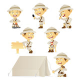 Boy Scout Collection. Collection of a boy scout in a variety of activities - isolated over white background Royalty Free Stock Photo